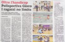 Una pagina in Gazzetta per la Gioco!